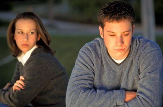 Teen Couple After Argument