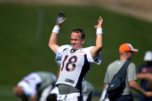 Denver Broncos practice at Dove Valley