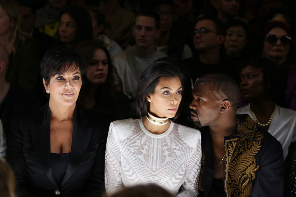 Balmain : Front Row - Paris Fashion Week Womenswear Spring/Summer 2015