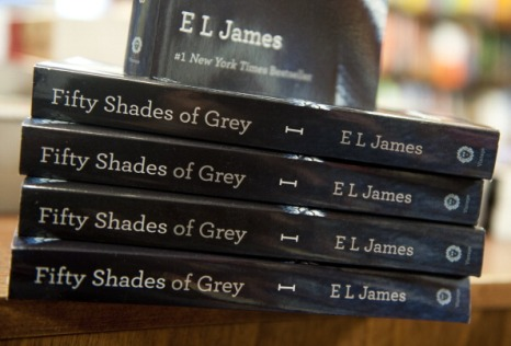 "Copies of the book ""Fifty Shades of Grey"