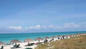 Soft sand extends for a dozen miles along Grace Bay on the T