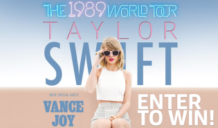 Taylor Swift Giveaway Graphic