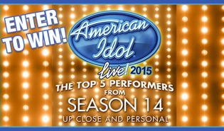 American Idol Up Close and Personal Giveaway Graphic
