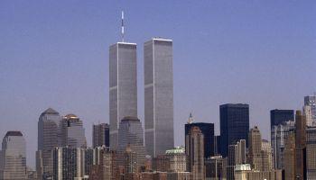 The lower Manhattan skyline featuring the World Trade Center, New York City, USA