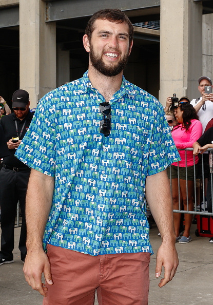 Andrew Luck at Indy 500