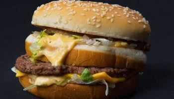 A photo of a McDonalds' Big Mac hamburge