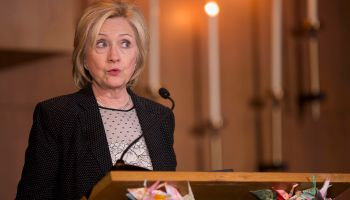 Democratic Presidential Candidate Hillary Clinton Attends Community Meeting In Florissant, MO