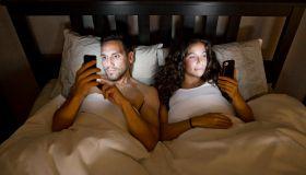 Phones in Bed