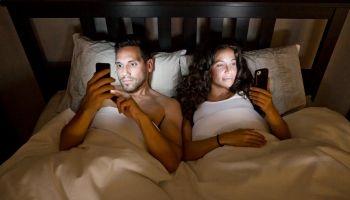 Phones in Bed