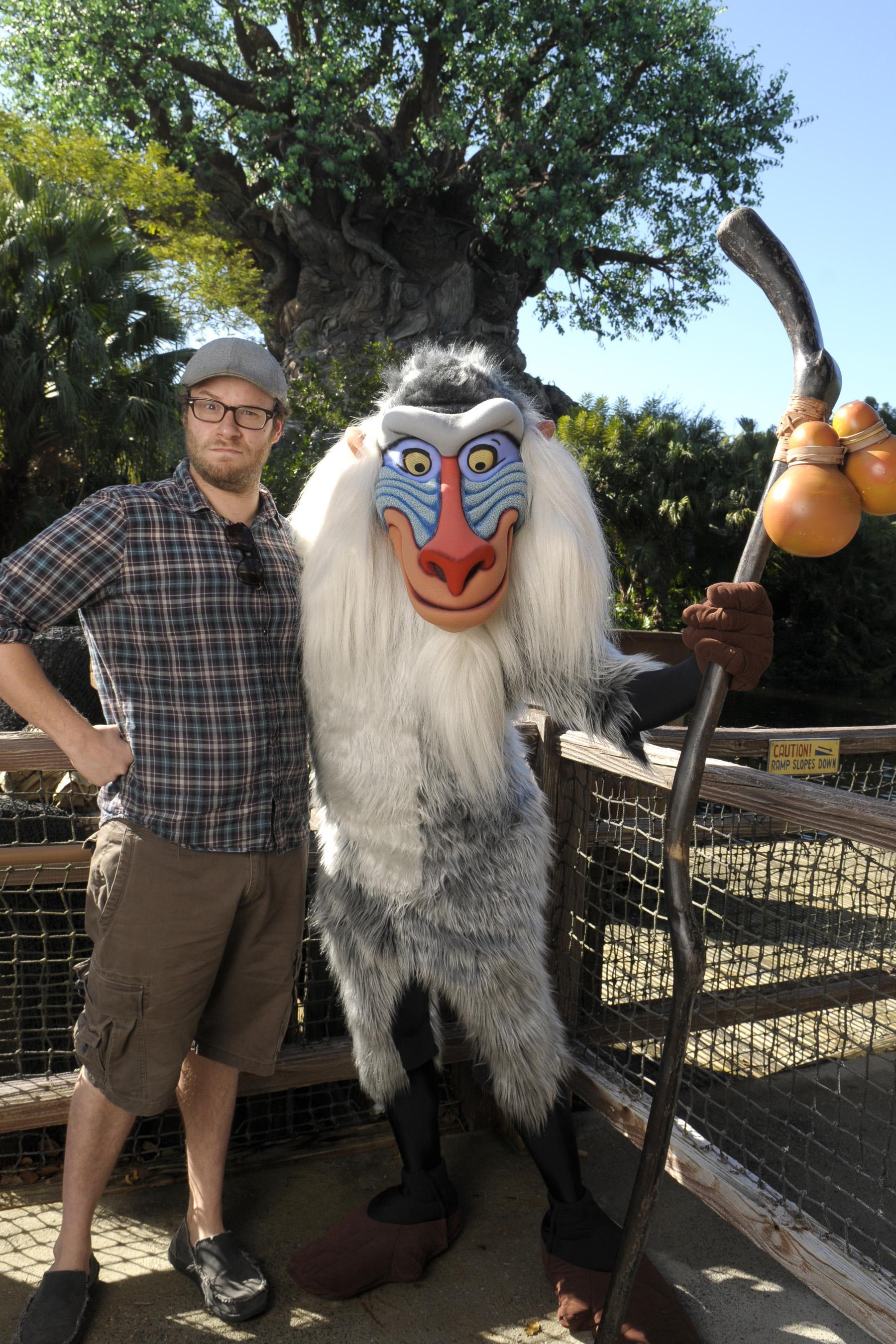 Seth Rogen Visits Disney World