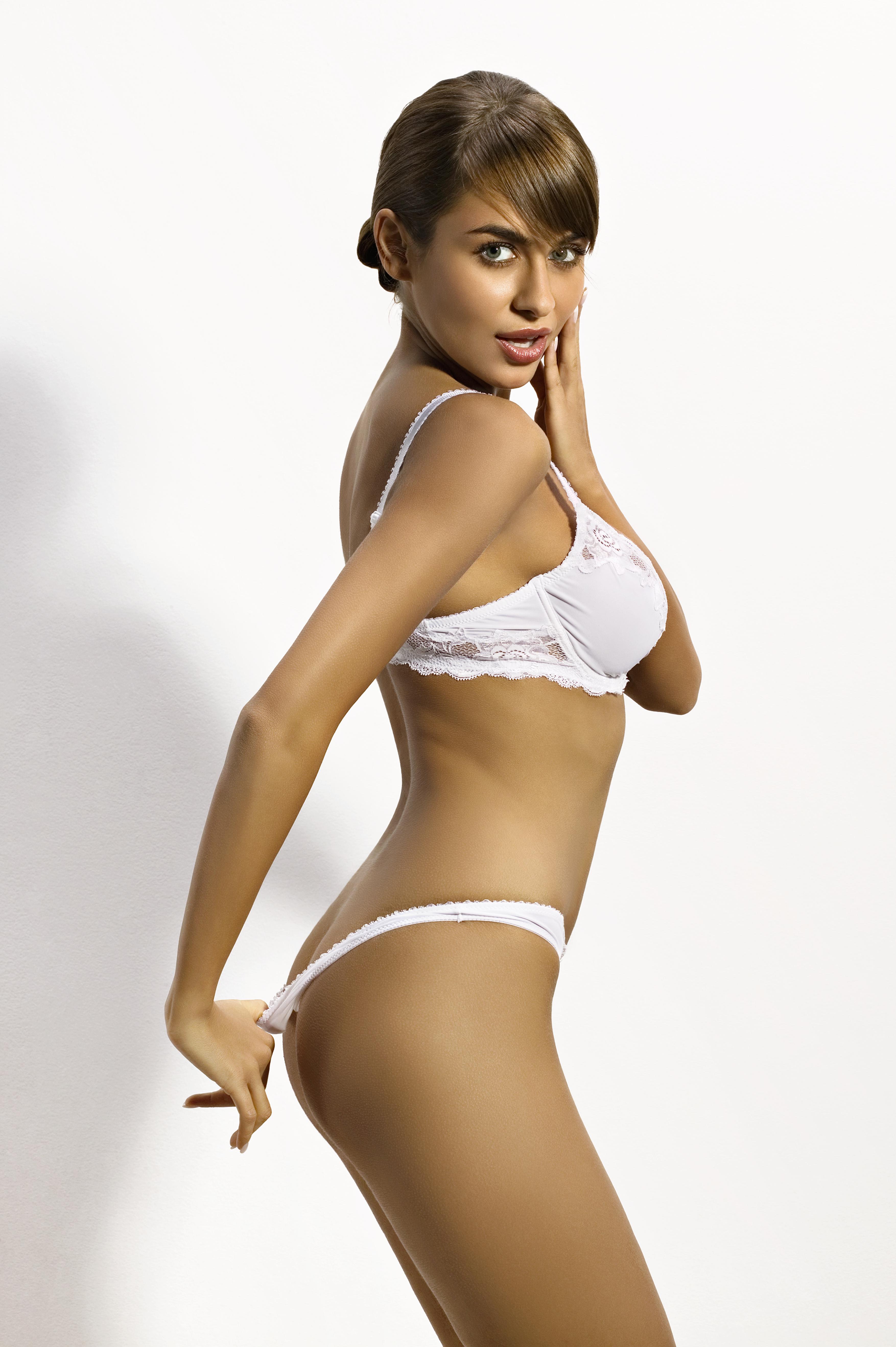 Woman wearing matching lingerie