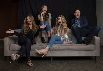 BURBANK, CA - June 18, 2014: Cast members of \'Girl Meets World,\' Danielle Fishel, who plays Topanga,