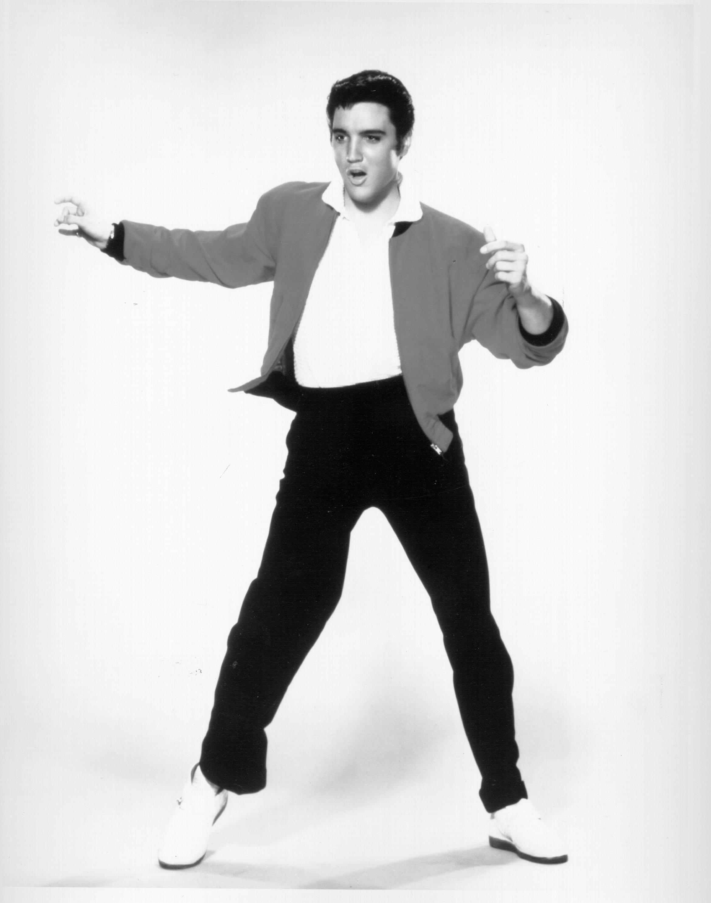 Rock and roll singer Elvis Presley