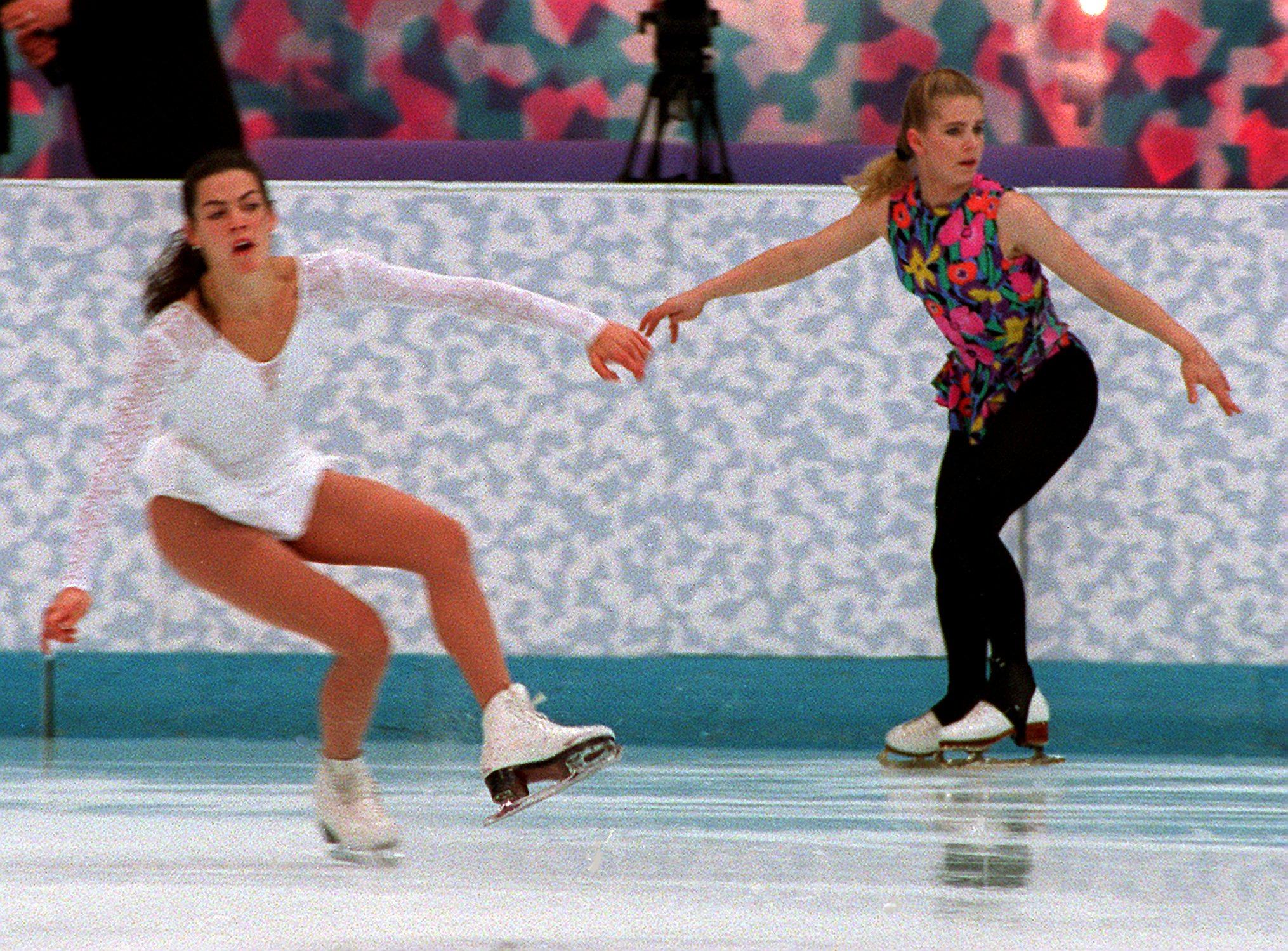 Tonya Harding And Nancy Kerrigan At Skating Practice