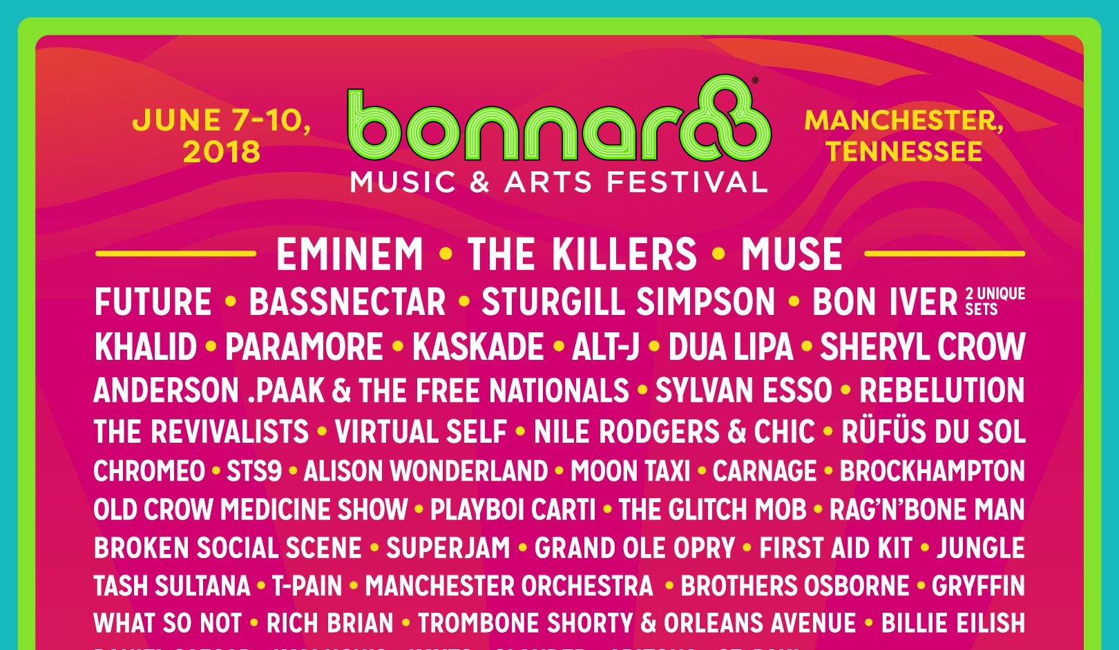 Bonnaroo Flyer