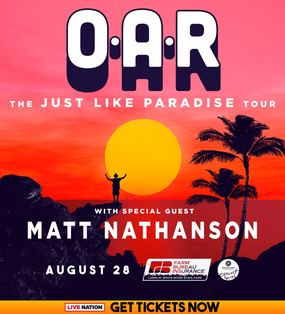 O.A.R. - Just Like Paradise Tour Flyer