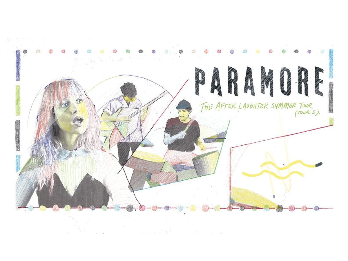 Paramore: The After Laughter Summer Tour Flyer