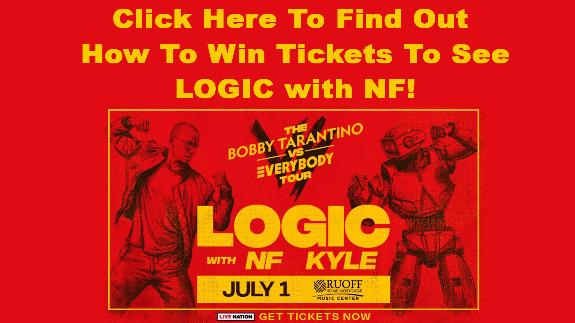 Win Tickets To See LOGIC with NF Graphic