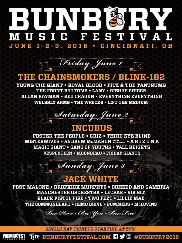 Bunbury Music Festival Flyer