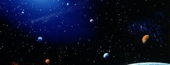 Earth and star field