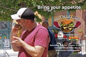 The Indy Burger Battle Flyer