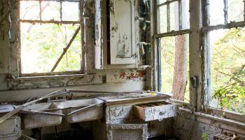 Abandoned Kitchen Falling Apart