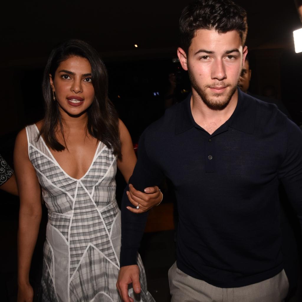 Nick Jonas, Priyanka Chopra and family go out to dinner at the JW Marriott
