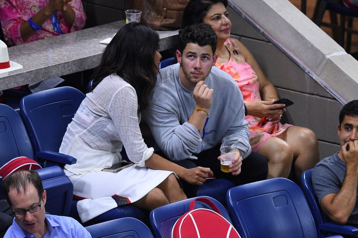 Nick Jonas and Priyanka Chopra at 2018 US Open