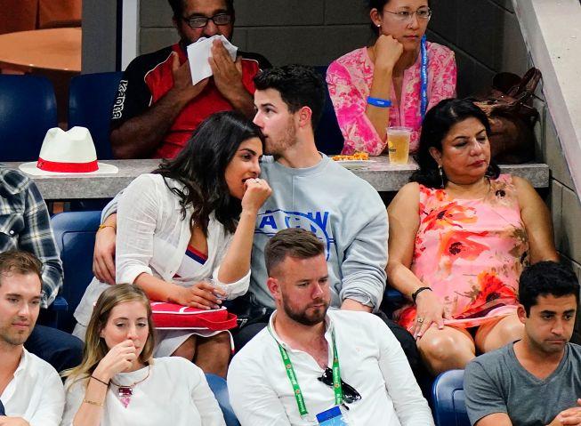 Nick Jonas and Priyanka Chopra at 2018 US Open