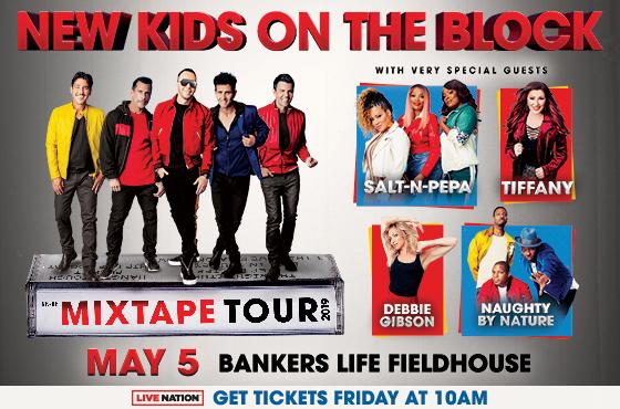 New Kids On The Block Mixtape Tour Flyer