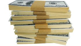 Stack of US money