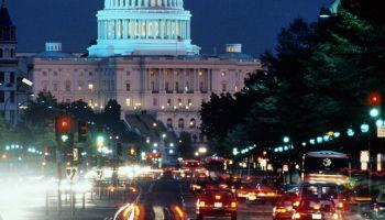 USA, Washington DC, The Capitol, Pennsylvania Avenue, long exposure