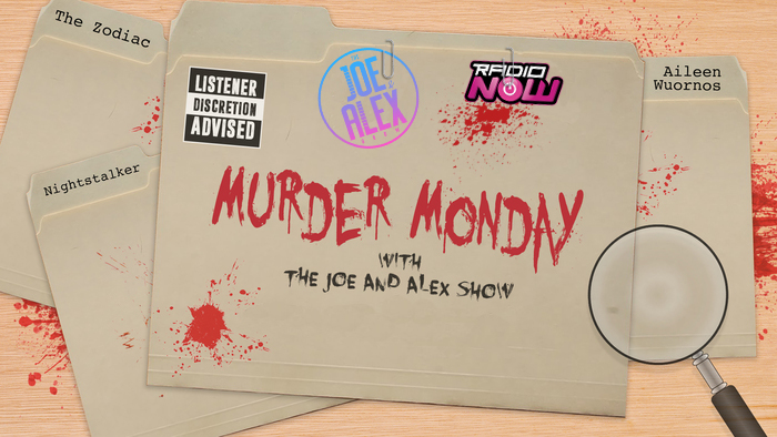 Murder Monday Logo (Joe & Alex Show)