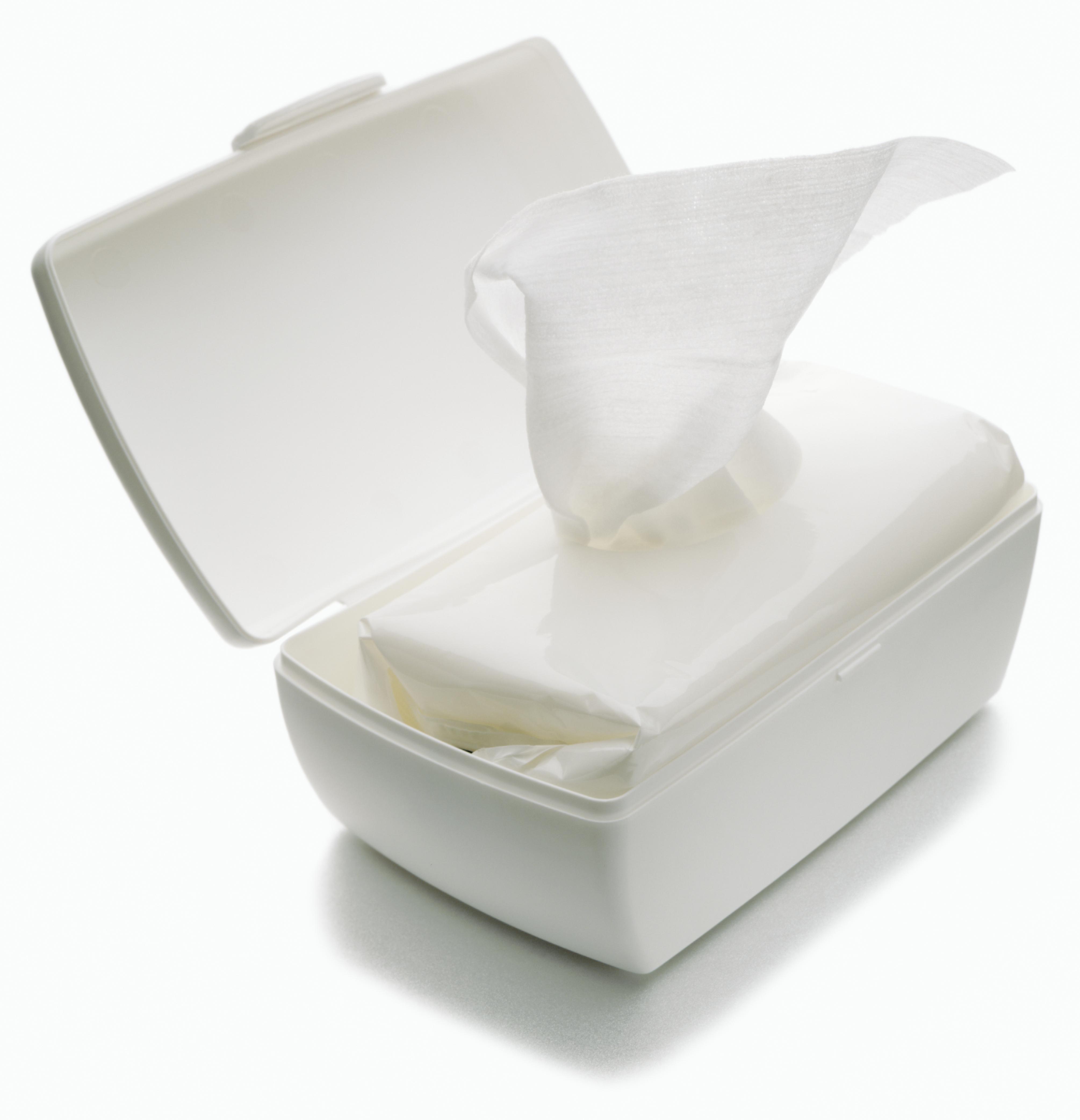 Moist baby wipes dispenser for diaper change