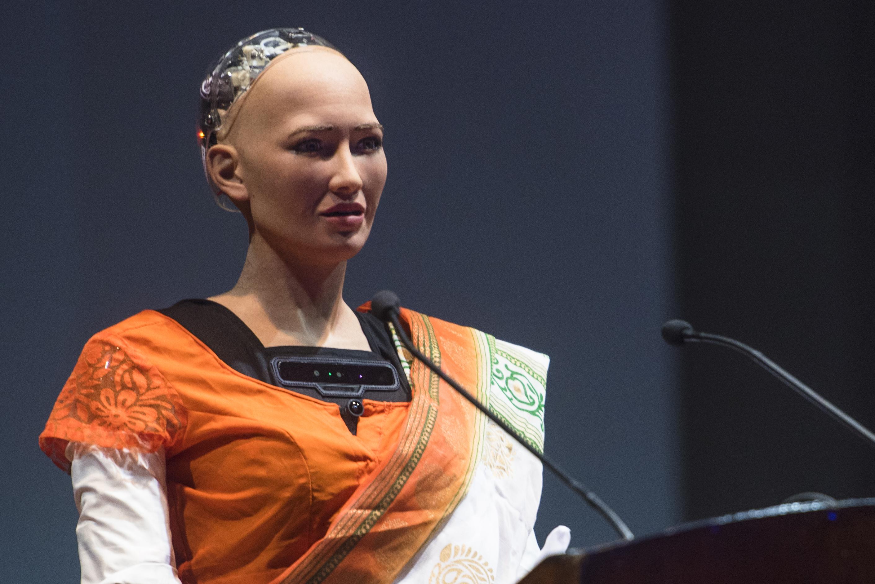 Humanoid Sophia Makes Her Indian Debut
