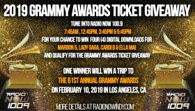 2019 Grammy Tix Giveaway Graphic