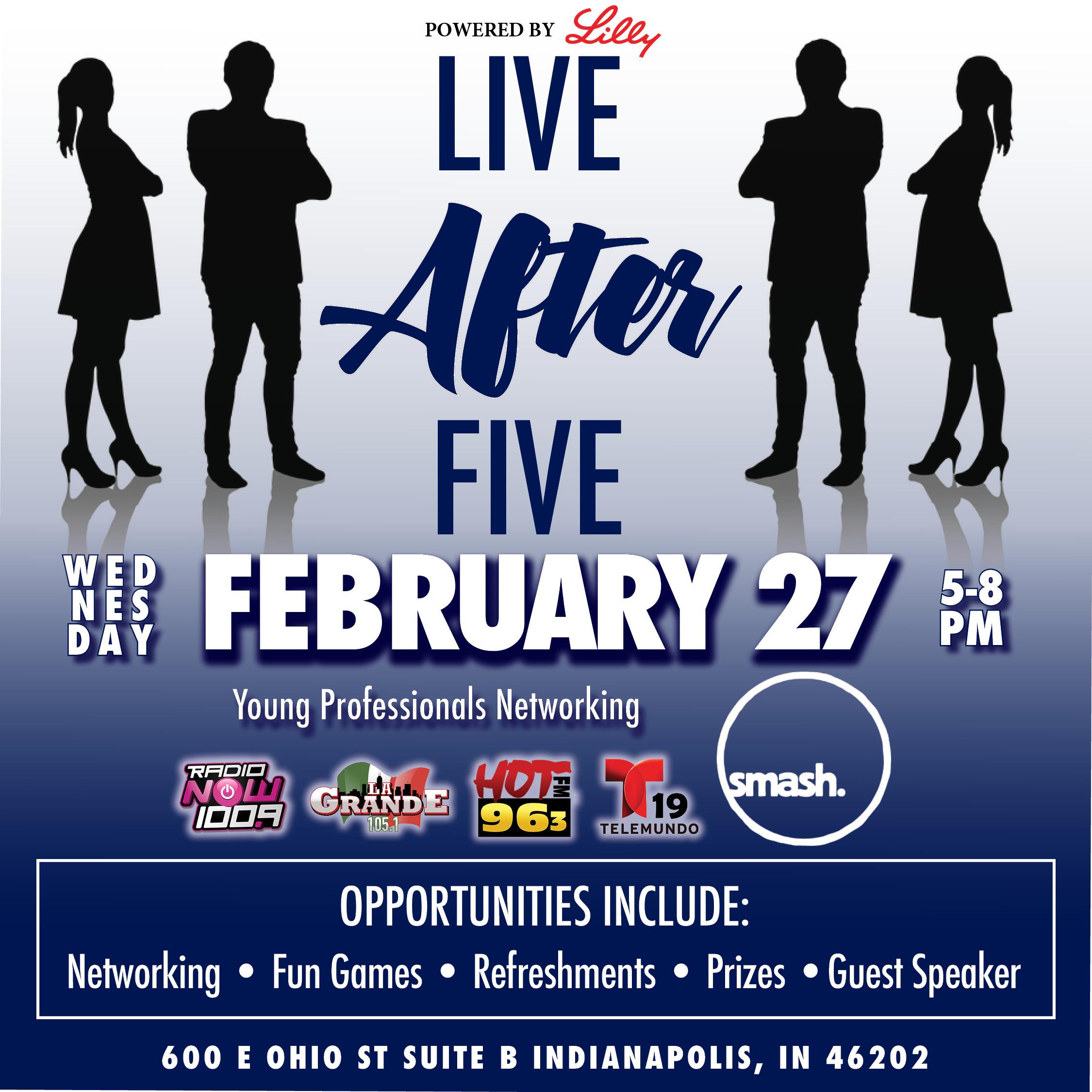 Live After Five @ Smash Social Flyer