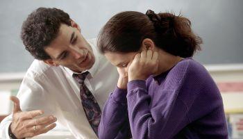 Teacher counseling student