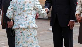 Queen Elizabeth II Visits The World Trade Center
