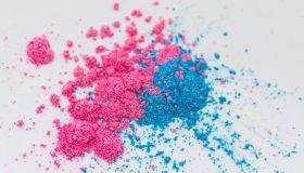 Pink and Blue Eyeshadow Powder