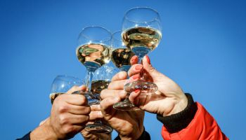 Holiday of young wine in Berehove