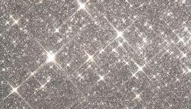 Silver glitter, close-up, full frame