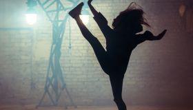 Girl is Dancing Modern Street Dance