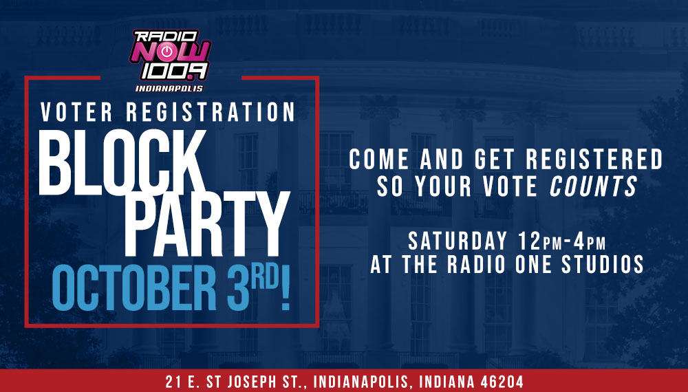 Voter Registration Block Party Radio One Indy